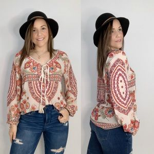 Flying Tomato Bohemian Blouse top
